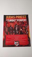 """Judas Priest """"Turbo Power"""" (1986) Rare Original Print Promo Poster Ad"""