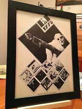 """2 Framed Original """"Elton John 1975"""" Catalogue & """"Caribou"""" Lp Album Cd Promo Ads"""
