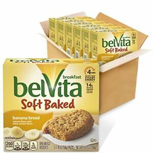 belVita Soft Baked Breakfast Biscuits Banana Bread Flavor 6 Boxes of 5 Packs ...