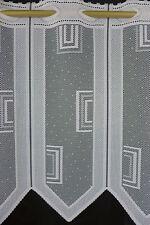m/€ 8,07 Scheibengardine Gardine Bistrogardine 44 cm hoch modern weiß 021/571
