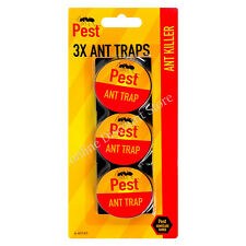 3 PACK ANTI STOP BAITED GLUE ANT TRAP TRAPS NEST KILL KILLER POISON FREE