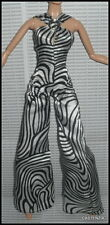 JUMPSUIT BARBIE POP LIFE DOLL MODEL MUSE MOD BLACK WHITE ZEBRA PRINT BODYSUIT
