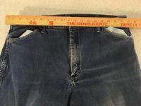 Mens Wrangler 947STR 38 X 32 Regular Cotton Cowboy Cut Denim Work Jeans