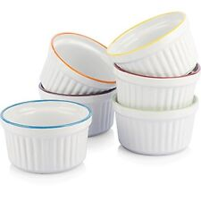 Uno Casa Creme Brulee Ramekins 5 oz Dishes Set of 6 Baking Cups - Ideal for S...