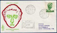 1969 - FDC Venetia - San Giorgio Lire 500 - Viaggiata per raccomandata - n.283It