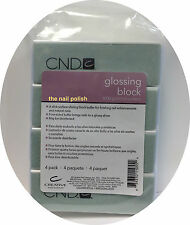 Creative Nail Design -4 pk  Glossing Block - CND - Shining Buffer - 4000 Grits
