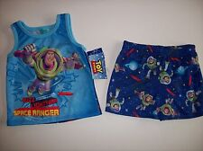Toy Story Pajamas Sleepwear 2pc Set 12 Mos Space Ranger Buzz Lightyear Pixar NWT