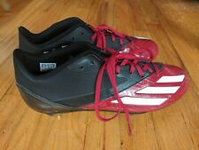Adidas Mens Football & Lacrosse Cleats, Preowned in Euc: Size 11.5, Red/ Black