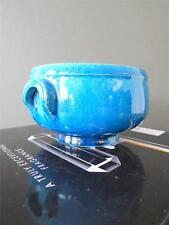 Vintage Hak Studio Nils Kahler Turquoise Pottery Bowl Modernist Danish Design