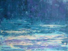 TABLEAU ABSTRAIT, art contemporain, paysage peinture de HZen, PAYS DE DINA 61x46