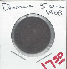 From Show Inv. - A NICE OLDER 5 ORE COIN from DENMARK DATING 1908