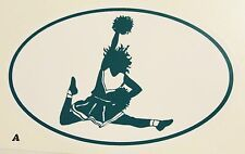 Sports Decals for Automobile Windows - Cheerleading - 3 for 1