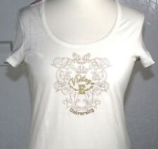 Neu edc by esprit Long T-Shirt  Gr.L Gr.38 creme weiß elegant bestickt