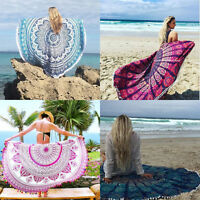 Indian Round Mandala Tapestry Hippie Beach Towel Yoga Mat Roundie Throw Blanket