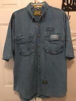 Camel Trophy Adventure Wear Denim Button Up Shirt 4XL Vintage