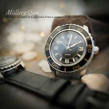 """Müller&Son Watch """"Modern Gold Mod 2"""" made from Seiko SNZH57 Fifty Five Fathoms"""