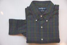 Ralph Lauren Hemd langarm - Gr XL - grün kariert - Zustand sehr gut 131017-165