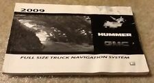 2009 Chevy GMC Full Size Truck Navigation System  Manual 25872528 A booklet
