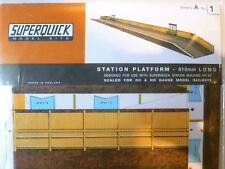 SUPERQUICK CARD KIT - Station Platform Platform #A1 - HO / OO Model Trains