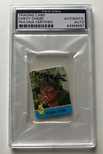 1988 Hostess Funny Farm Summer Flicks Chevy Chase Signed Auto Card PSA/DNA (A)