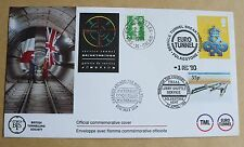 CHANNEL TUNNEL SERVICE TUNNEL BREAKTHROUGH 1990 COVER VARIOUS HANDSTAMPS