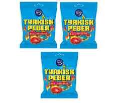 Fazer TYRKISK PEBER Hot & Sour x 3 Tasche finnischen salziger Lakritze