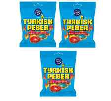 Fazer Tyrkisk Peber Hot & Sour x 3 bag Finnish Salty Liquorice