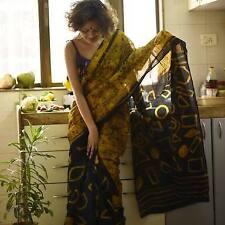 Bagru Hand Block Cotton Soft Printed Malmal Saree With Pure Cotton Saree