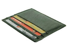 Green LEATHER Thin Small Flat Men Wallet Front Pocket ID Case 6 Card Holder