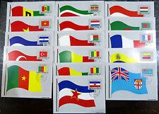 16x Karte UNO Vereinte Nation Maximumkarte MC MK Flagge Lot Posten Sammlung (520