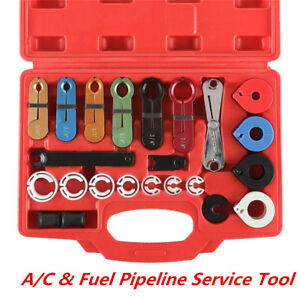 22pcs A/C Hose Fuel Pipe Line Disconnect Tool Kit For Ford GM US Japanese Car