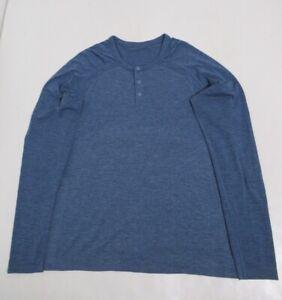 Lululemon Metal Vent Tech Long Sleeve Henlry Heathered Blue Size M Stretch