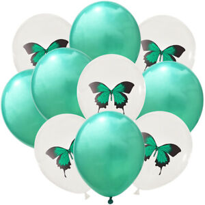 Colorful Swallowtail Butterfly Balloon Sequined Latex Baby Birthday Decoration