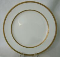 Vintage Lenox Luncheon Plate Gold Etched Bands White China 1906-1930 X7A EUC