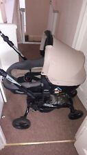 Baby pushchair 3 in 1 carseat/buggy/stroller Black and beige