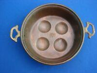 "Antique VTG Copper ESCARGOT Snail EGG Pan ARTS & CRAFTS 7"""