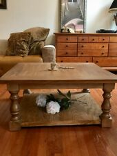 Custom Made Farmhouse Balustrade Coffee Table Real Wood