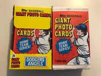 LOT of 76 Topps Baseball Giant Photo Cards - Dodgers Angels plus Various Teams