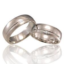 2 Trauringe 925 Silber GRAVUR + Etui Eheringe Verlobungsringe Partnerringe A25