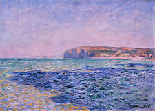 Shadows on the Sea-The Cliffs 75cm x 53.6cm by Claude Monet Canvas Print