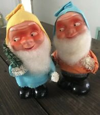 Vintage Christmas Santa Nodder Candy Container W Germany Bobblehead Elf Pair Lot