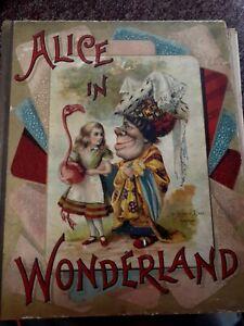 Alice in Wonderland by Lewis Carroll (Hardcover) McLoughlin Bros John Tenniel