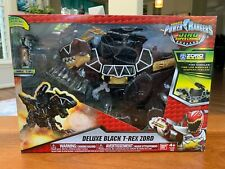 Bandai POWER RANGERS Dino Super Charge Deluxe Black T-Rex Zord - NIB