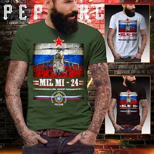 Russia Military Airforce USSR t shirt Mil mi24 Mig 24 Army Fancy dress Men Retro