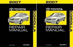 2007 Toyota Corolla Shop Service Repair Manual