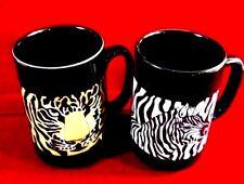 Tiger - Zebra Large Mug Otagiri Hand Crafted Japanese stoneware 02 Pcs.