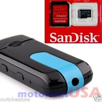 16 GB Hidden Mini USB Flash Drive Spy Cam Camera Nanny HD DVR Video Recorder U8