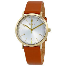 DKNY Minetta Silver Dial Ladies Leather Watch NY2613