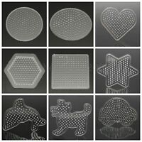 Clear Perler Hama Beads Peg Board Pegboard Template Funny DIY Kids Toy Craft New