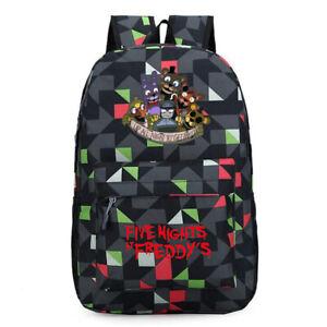 Five Nights At Freddy's Backpack Bag FNAF School Bag Chica Bonnie Student Bag